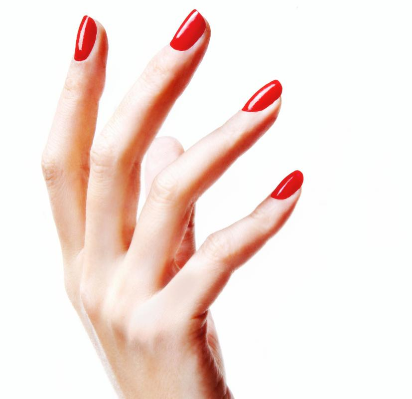 A Woman With Gel Nails