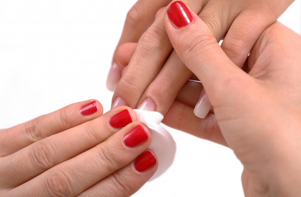Acetone Nail Polish Remover Easily Removes Old To Prepare For A Manicure