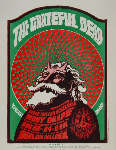 Grateful Dead Handbill from Avalon Ballroom on 23 Dec 66: 8 1/2