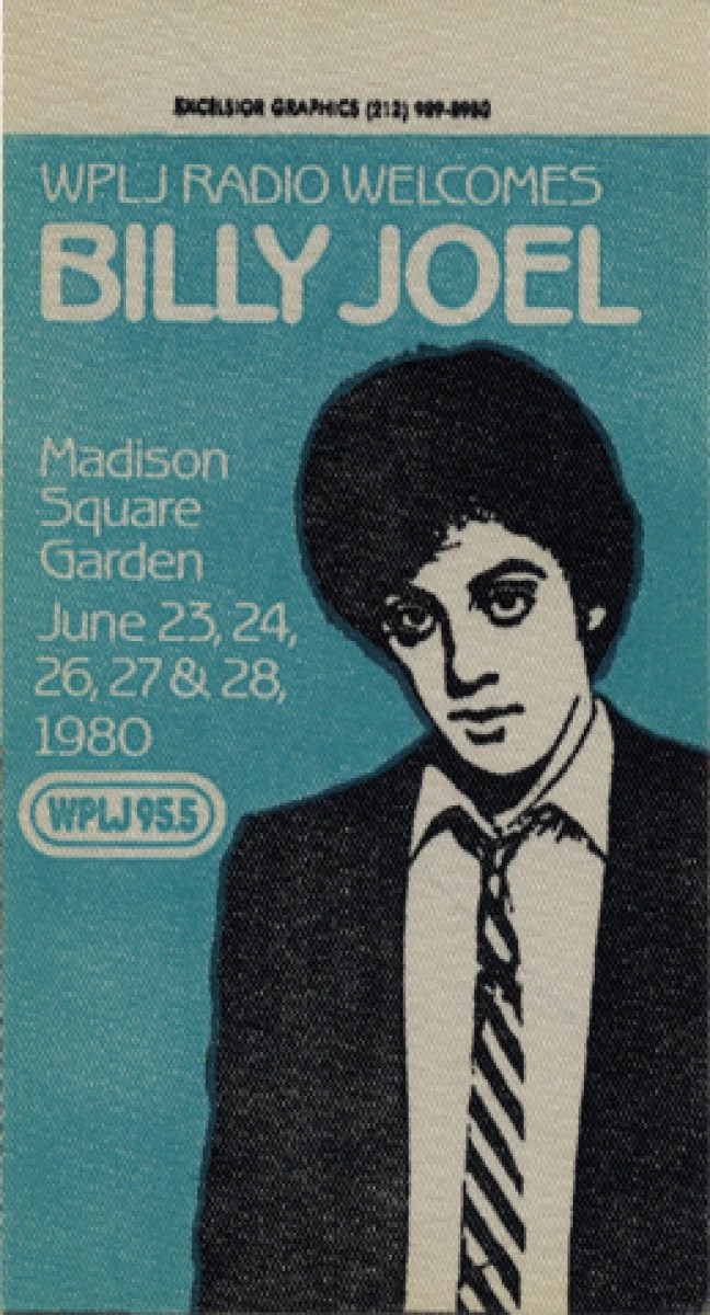 billy joel backstage pass from madison square garden jun 23 1980 at wolfgang s