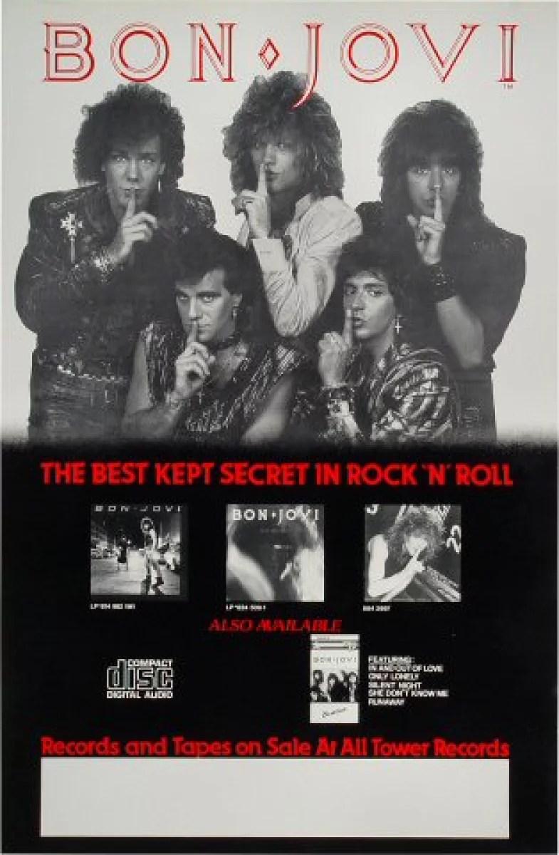 bon jovi vintage concert poster 1985 at wolfgang s