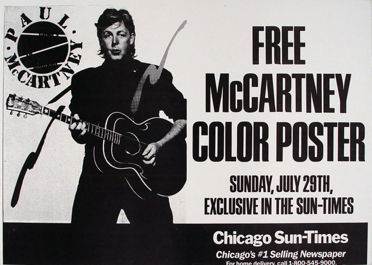 paul mccartney vintage concert poster at wolfgang s