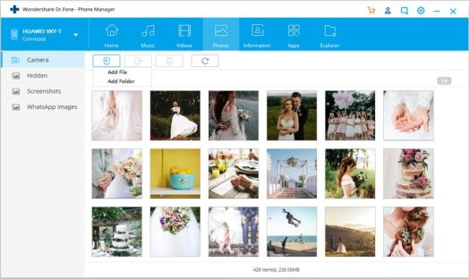 how to transfer files from pc to android-add all the photos