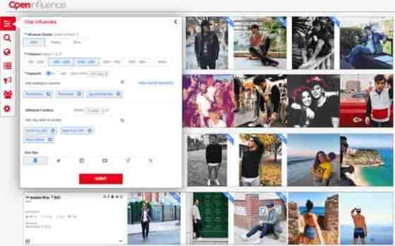 open influence  influencer marketing platform