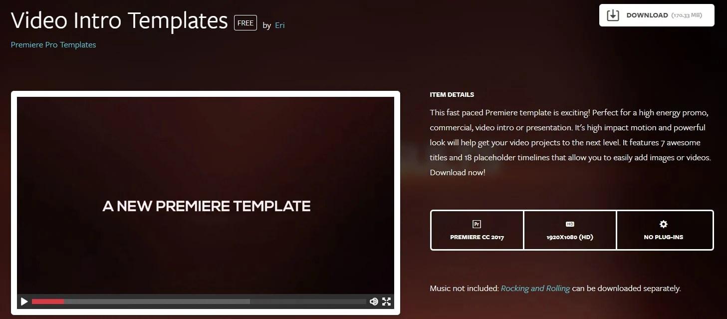 Top 20 Adobe Premiere Title Intro Templates Free Download