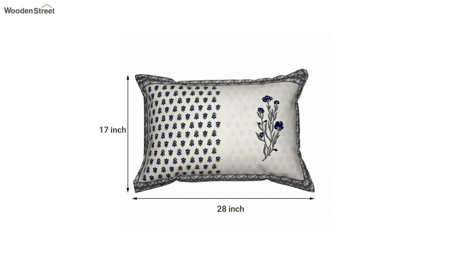 buy off white screen floral print pillow covers set of 2 online in india wooden street