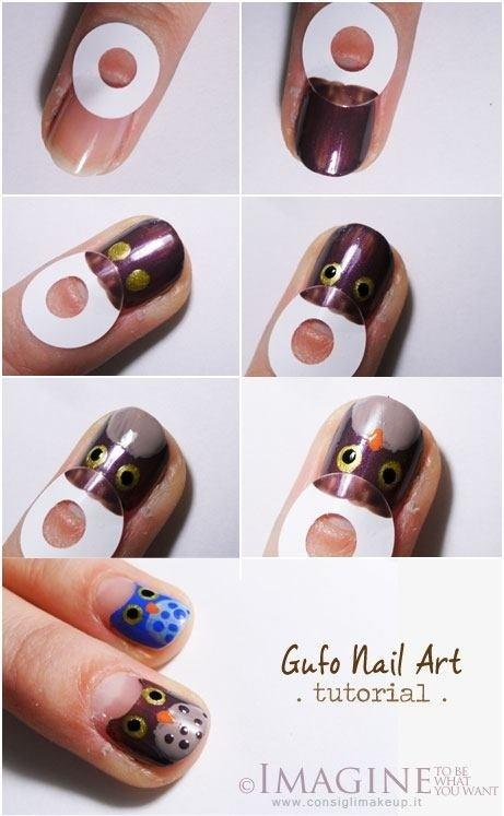 Diy Owl Nail Design Do It Yourself Fashion Tips Projects