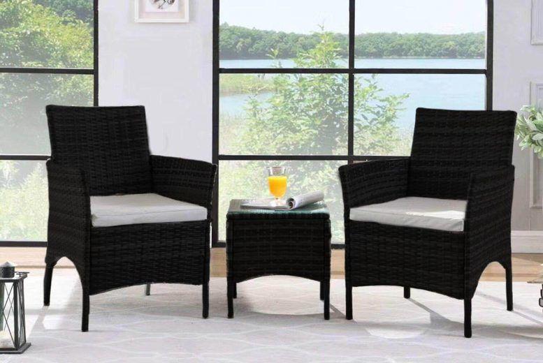 3 piece rattan garden furniture set brown black or grey