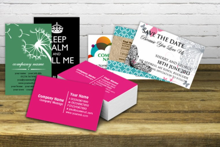 500 Personalised Business Cards   Matte or Gloss    Shop   Wowcher 39175