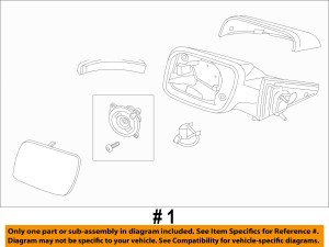 NEW OEM RH EXTERIOR SIDE VIEW MIRROR 20112013 FORD