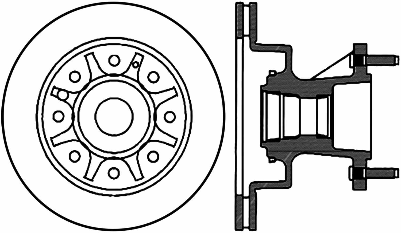 Disc Brake Rotor C Tek Standard Front Fits 95 02 Ford E 350 Econoline Club Wagon