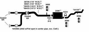 GMC SIERRA 1500 Exhaust Diagram from Best Value Auto Parts