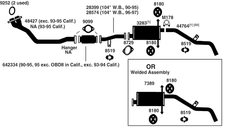 Nissan Datsun Pickup D21 Hardbody Exhaust Diagram From Best Value Auto Parts