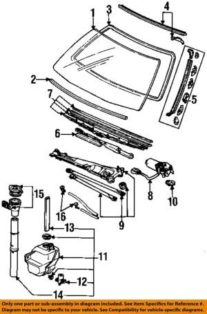 HONDA OEM 9093 Accord WindshieldUpper Molding Trim