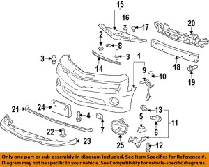 Chevrolet GM OEM 1015 Camaro Front Bumper Grille Grill