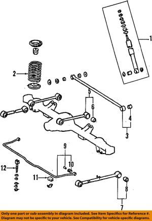 TOYOTA OEM 9602 4Runner Rear Upper Control Arm 4871035030