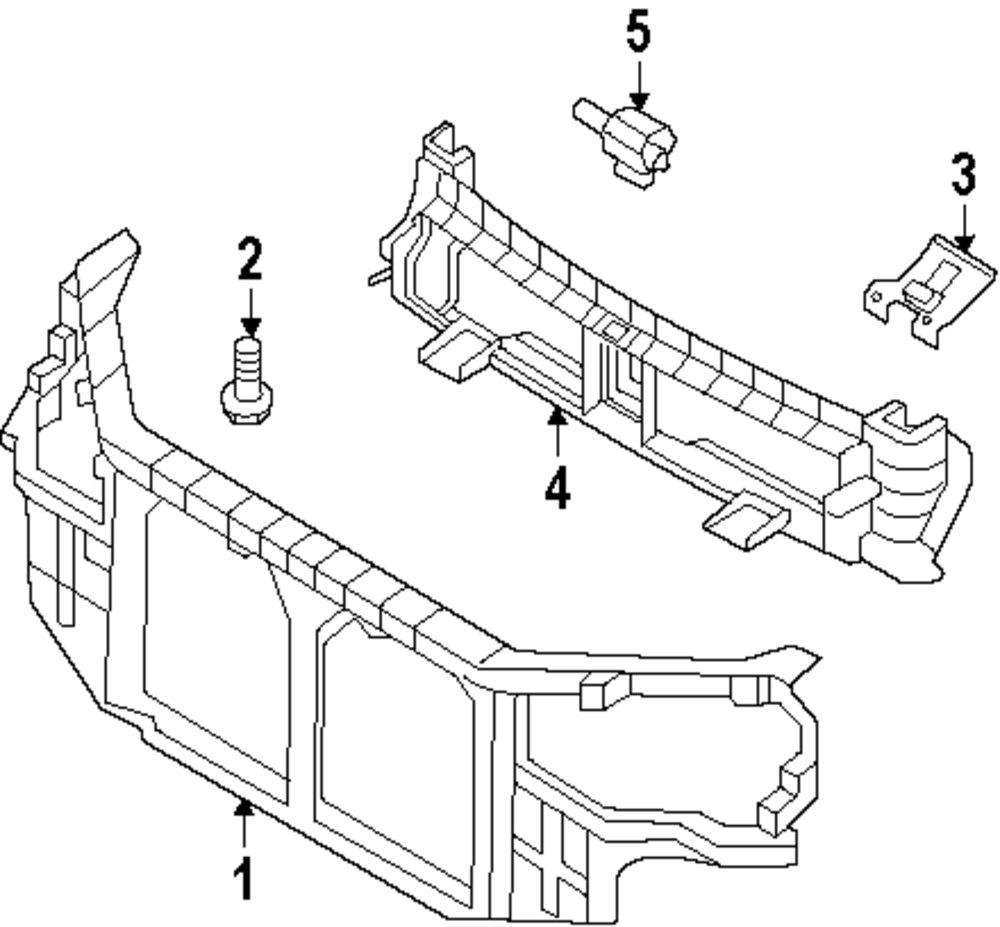Genuine hyundai radiator support bolt hyu 1125408256b