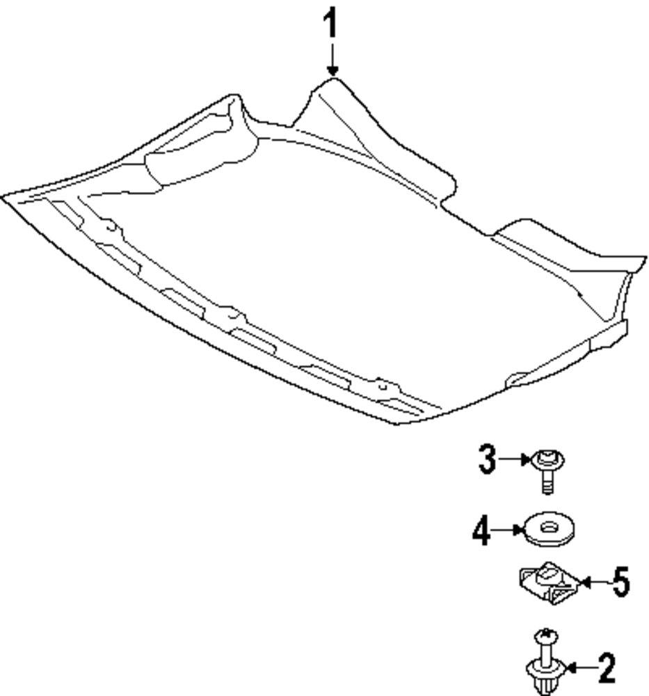 Genuine bmw splash shield screw bmw 51717134392