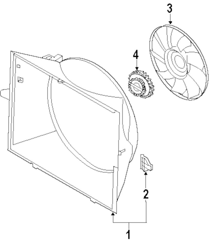 Genuine bmw fan assy bracket bmw 17117507979