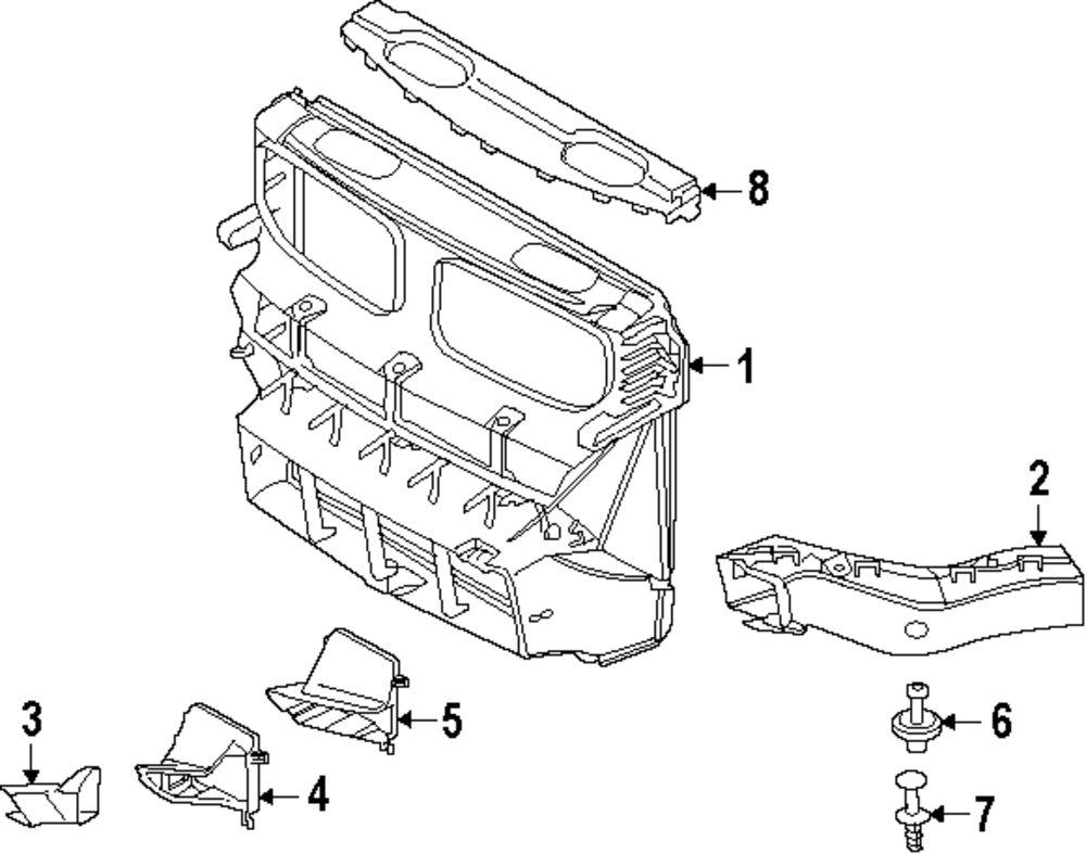 Genuine bmw wheelhouse liner bolt bmw 07119905507