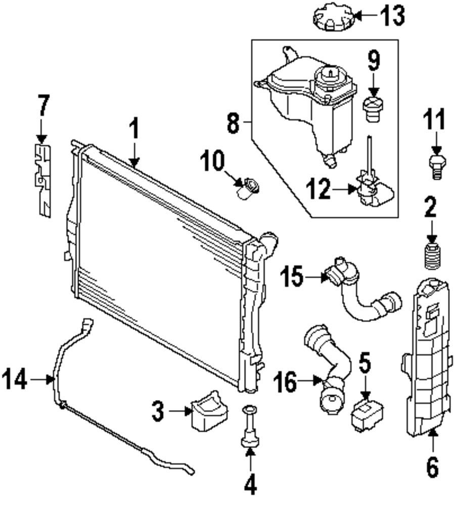 Genuine bmw radiator bmw 17117559273