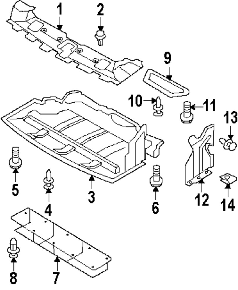 Genuine nissan lower cover nis g58921a30c