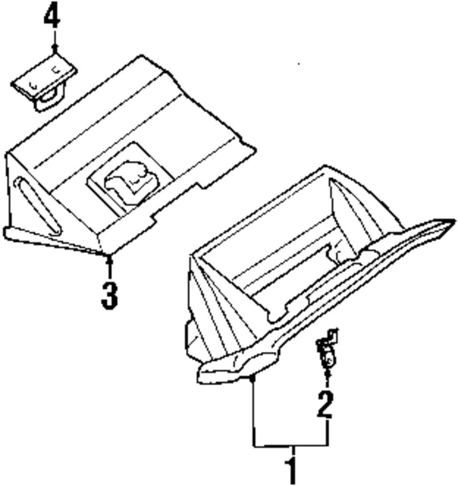 Genuine nissan glove box pin nis 685515m002