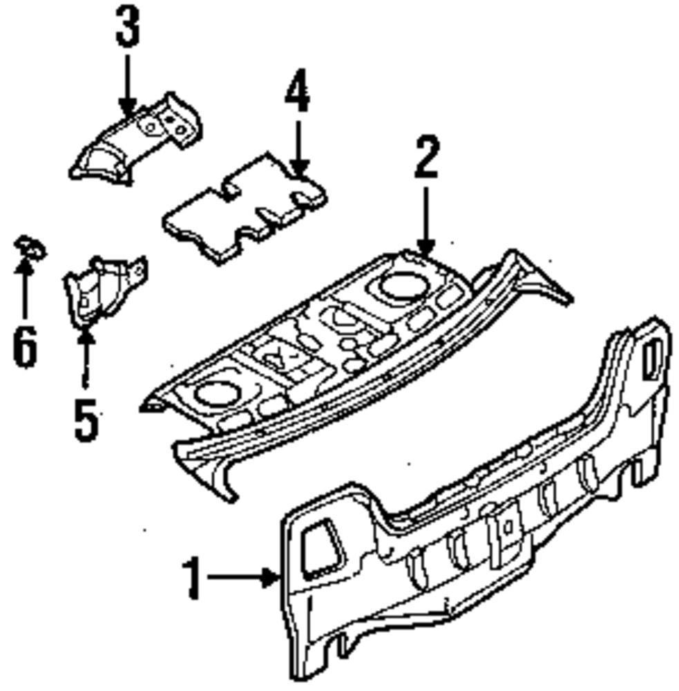 Genuine nissan package tray insulator nis 794909e000
