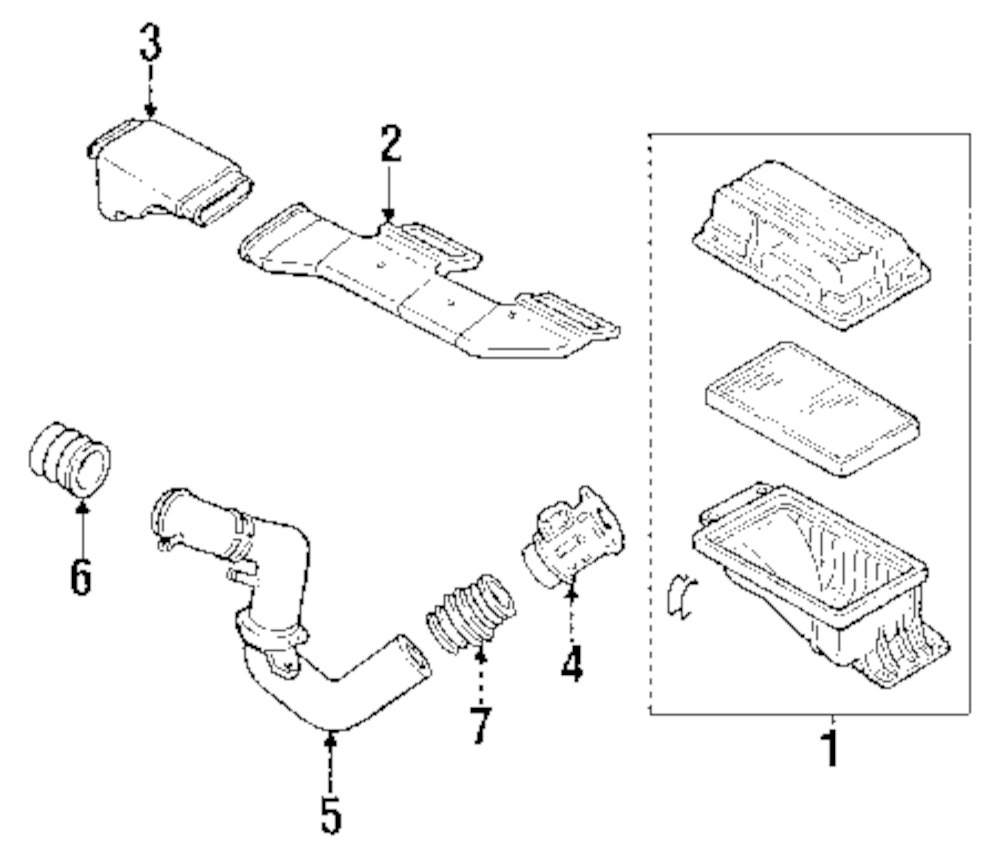 Genuine infiniti air duct inf 16554f6610