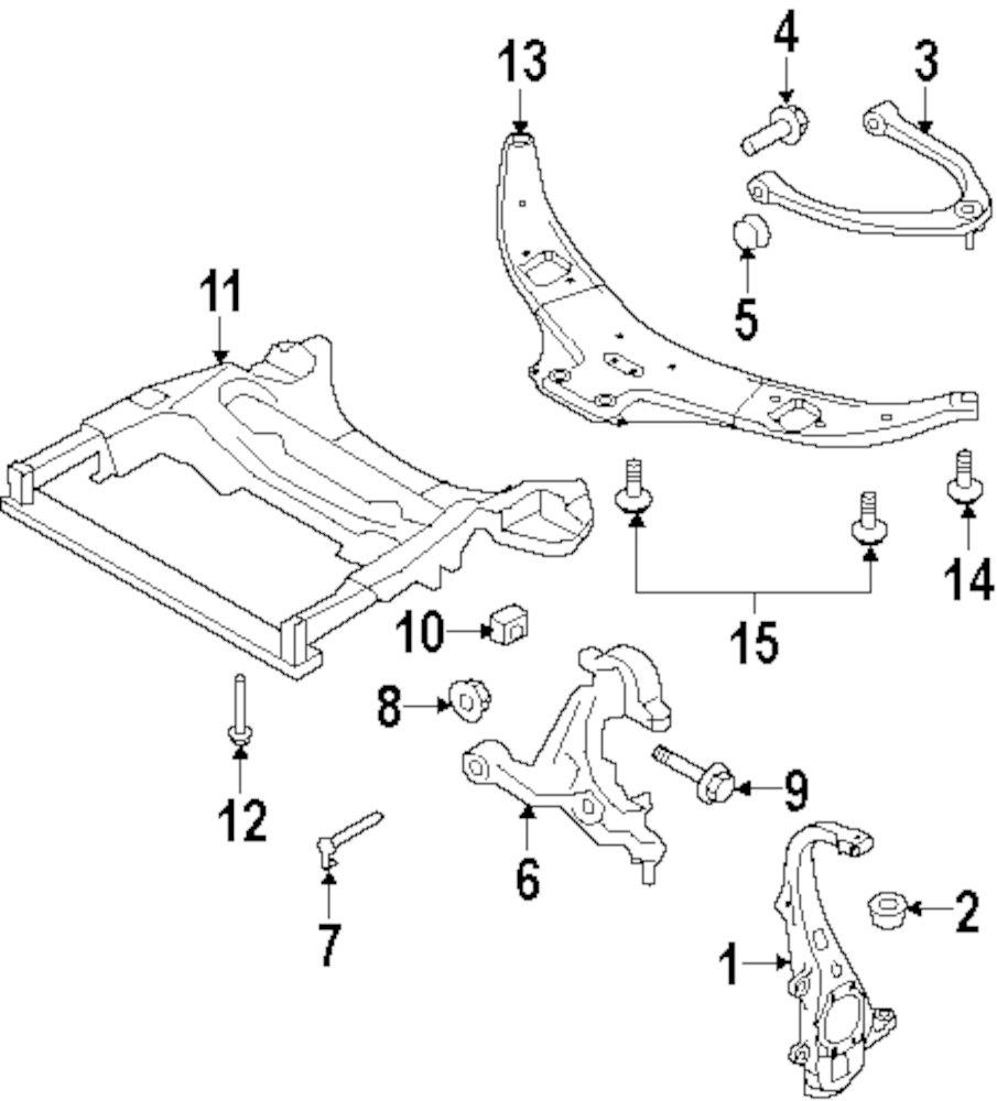 Genuine infiniti fork bolt inf 11298eg30a
