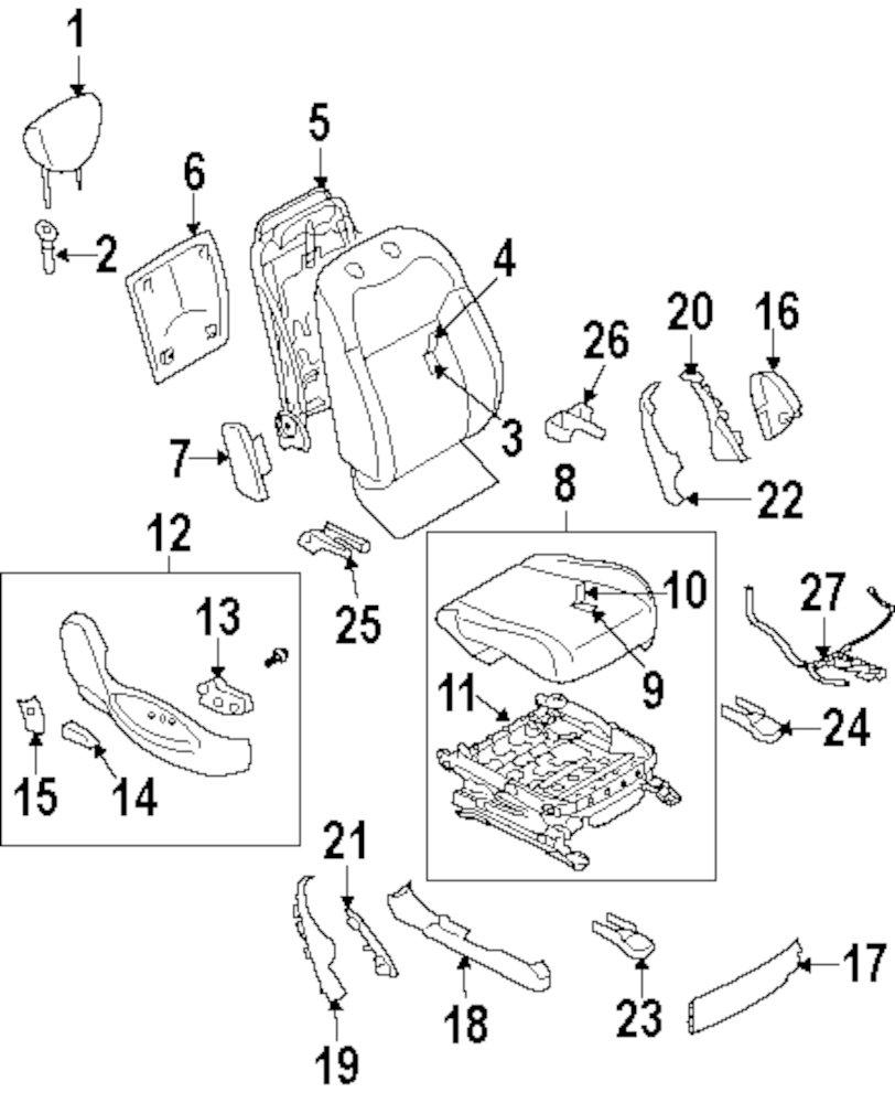 Genuine infiniti headrest guide inf 876021cc2c