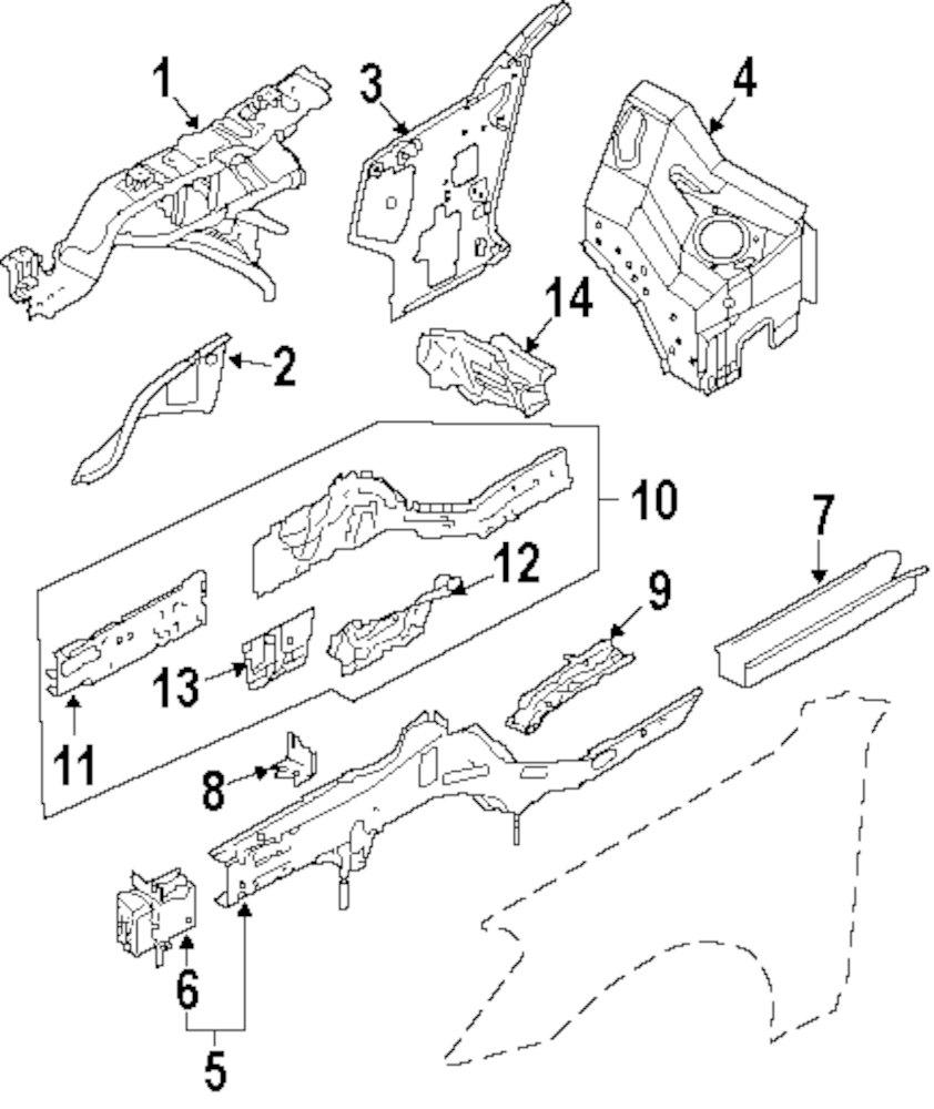 Genuine infiniti inner rail inf g5110eh100