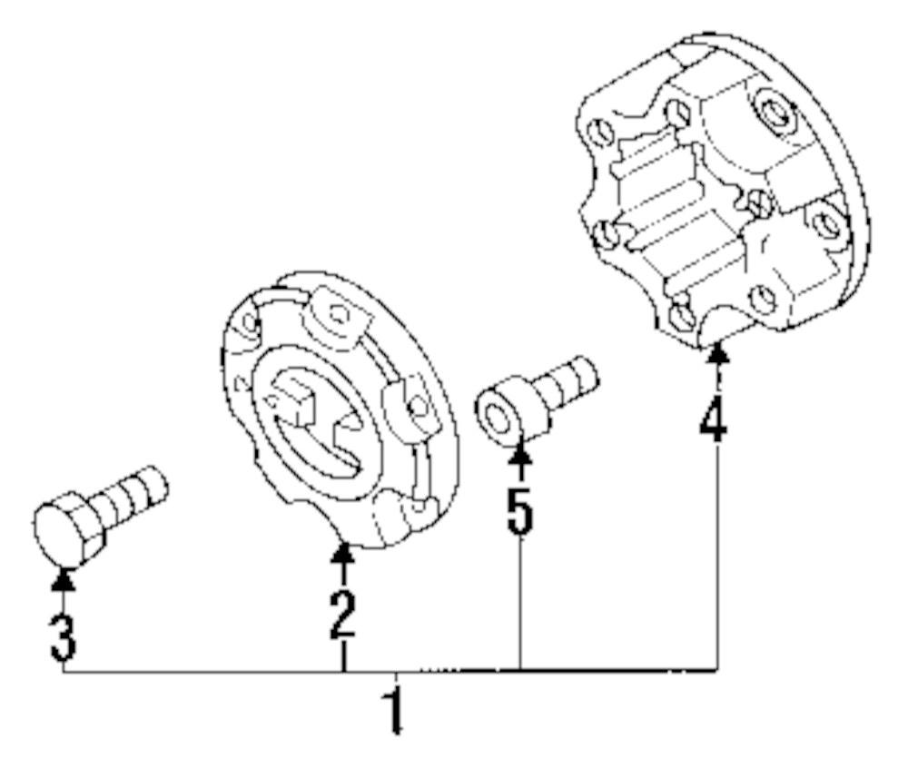 Genuine isuzu cover bolt isu 8971361570