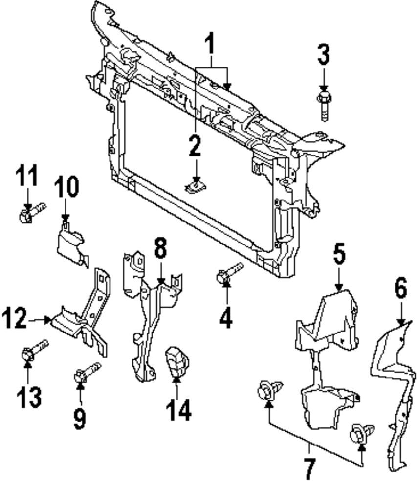 Genuine mazda lock support maz td115215y