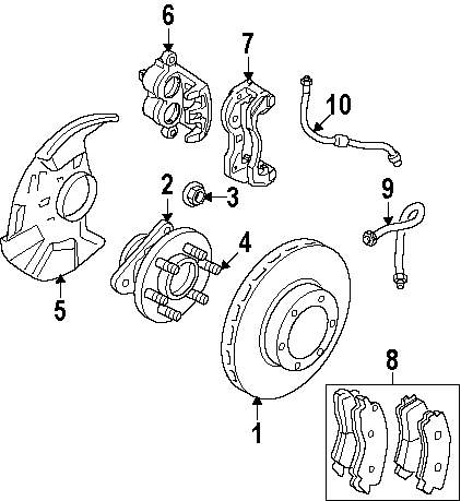 Genuine mitsubishi hub assy lock nut mit 06506454aa