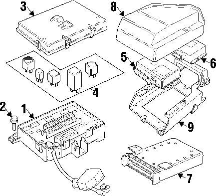 Genuine land rover fuse box ran amr6476