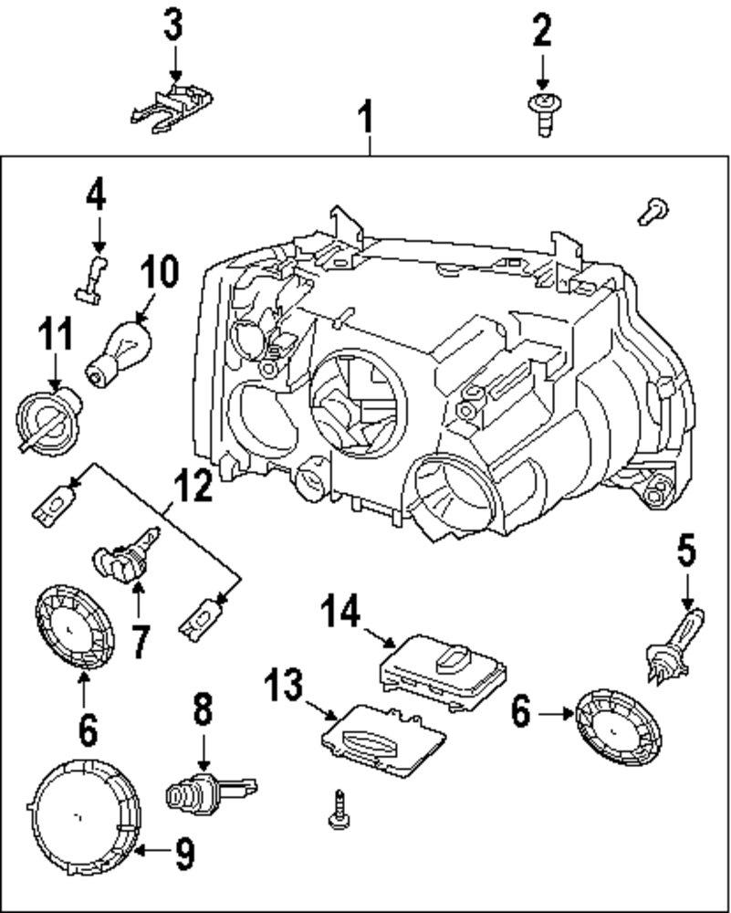 Genuine land rover headl assy clip ran xbu500102