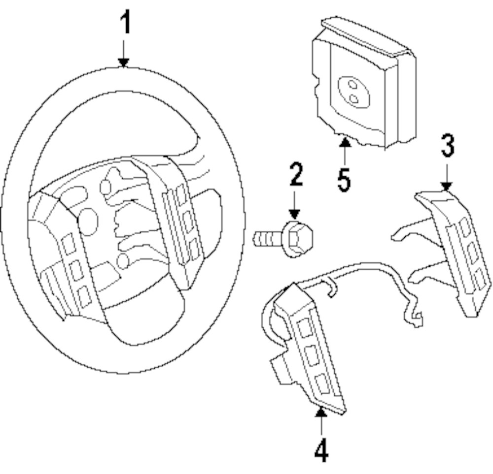 Genuine land rover steering wheel ran lr017036