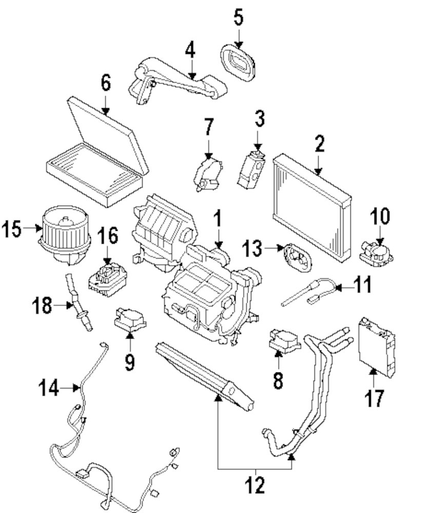 Genuine land rover ac heater assy ran lr052186