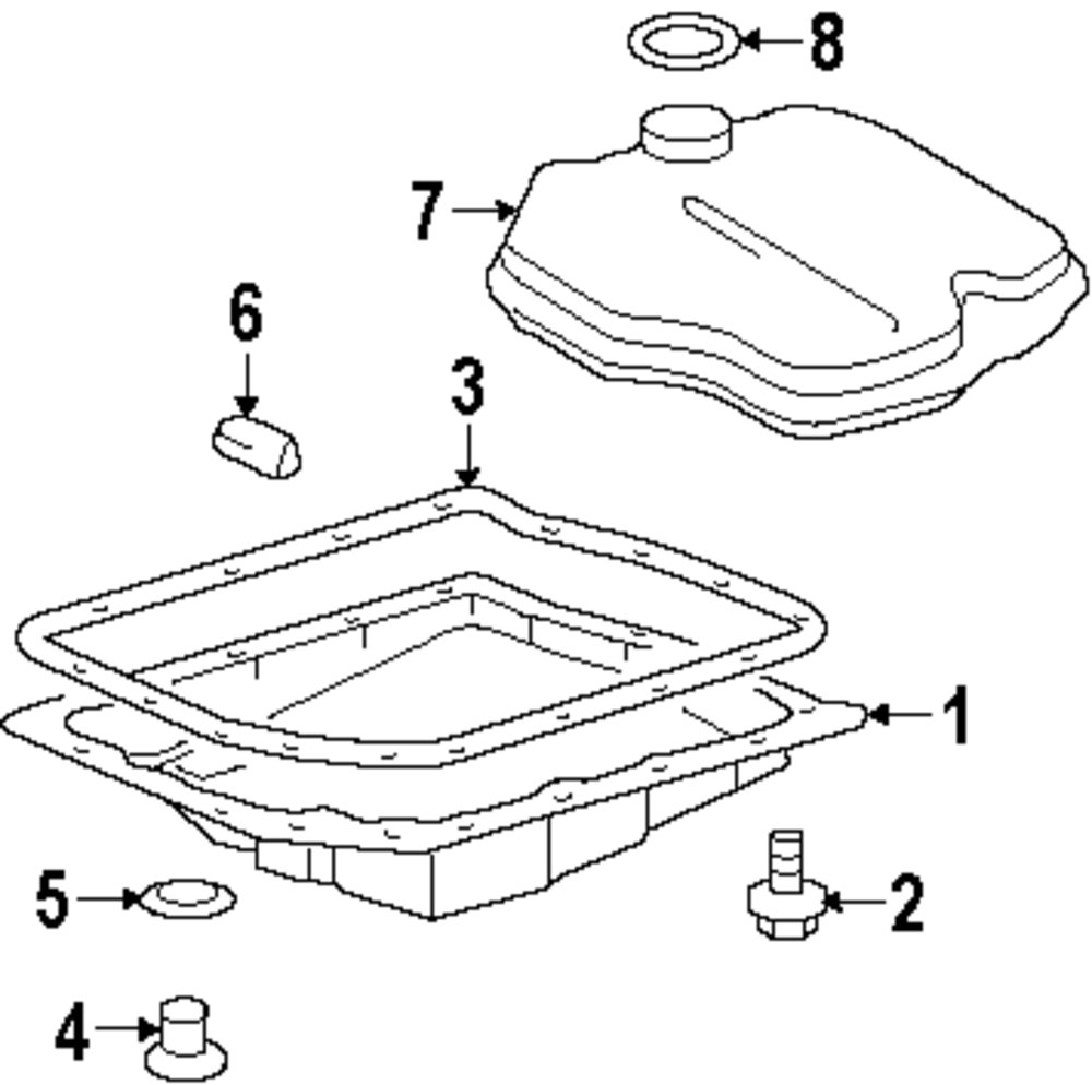 Genuine scion trans pan gasket sci 3516821011
