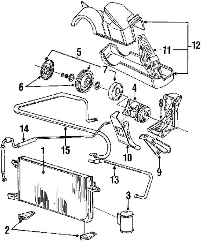 Genuine volkswagen pressor assy mount bracket vwg 051260881b