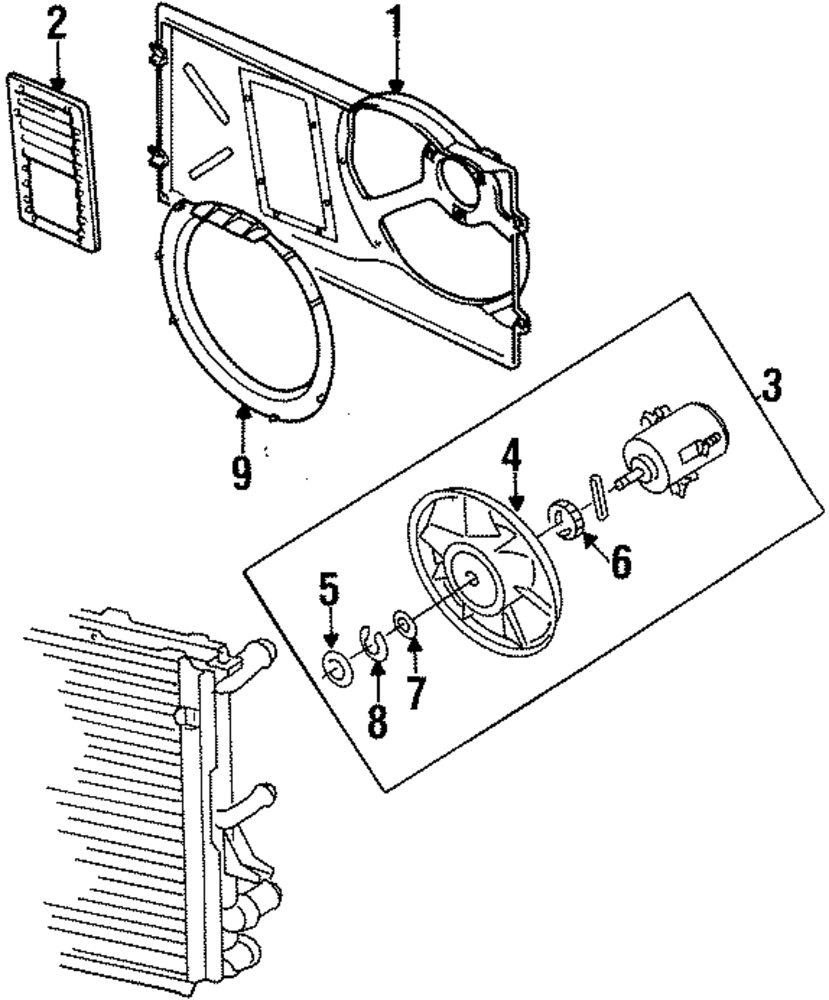 Genuine volkswagen fan blade inner bushing vwg 191959473