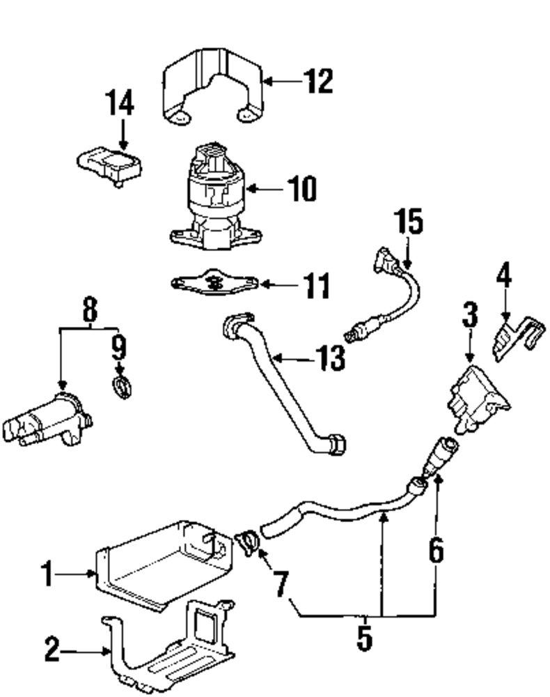 Genuine cadillac outlet hose cl cad 11570383