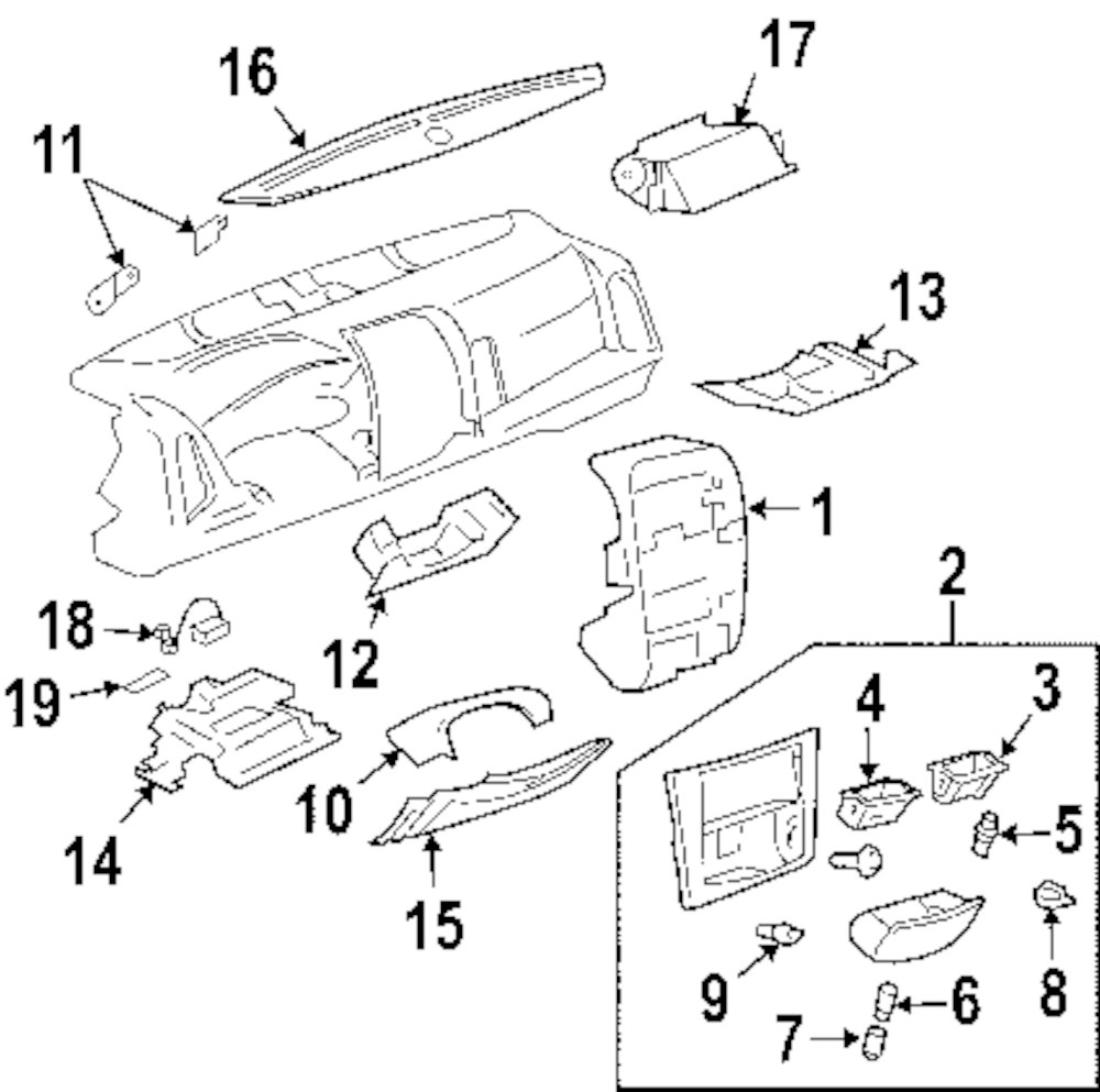 Genuine cadillac center panel cad 15220559