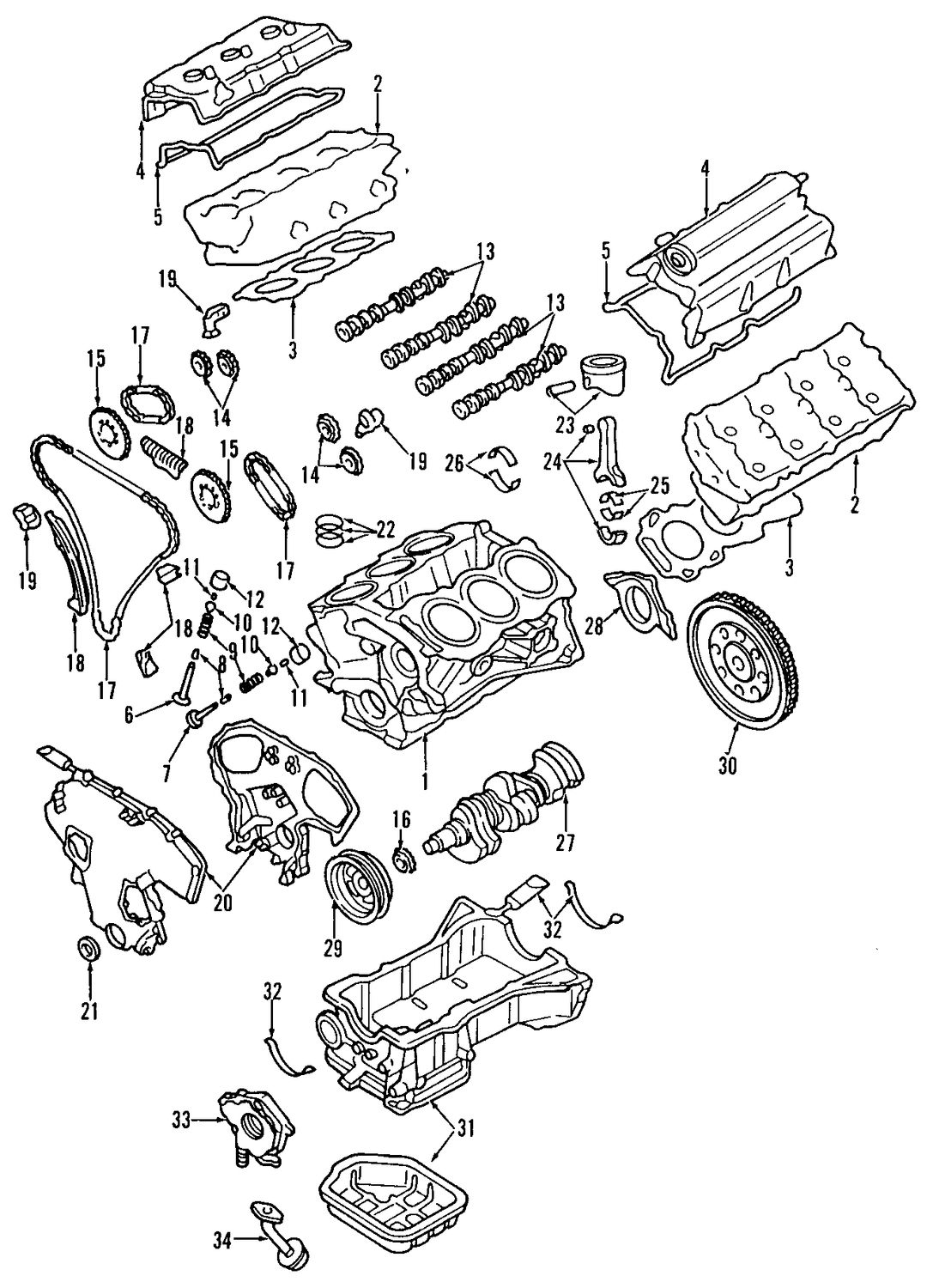 Infiniti G35 Cylinder Head And Valves Parts
