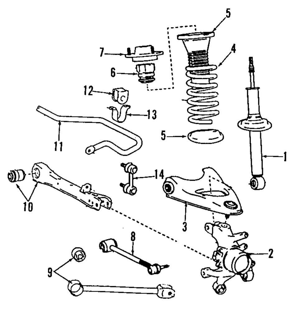 Genuine lexus ft lateral rod lex 4870553010