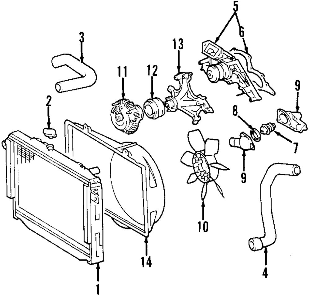 Genuine lexus radiator assy lex 1640050313