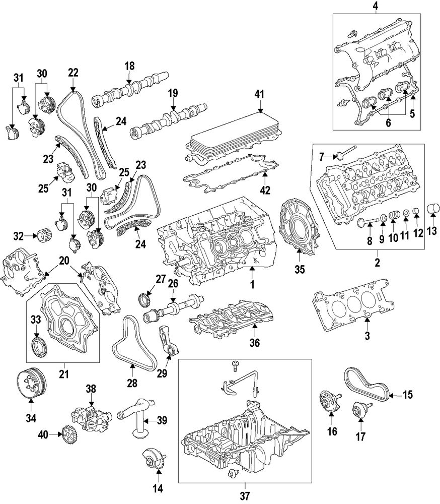 Genuine land rover cylinder head lan lr057658