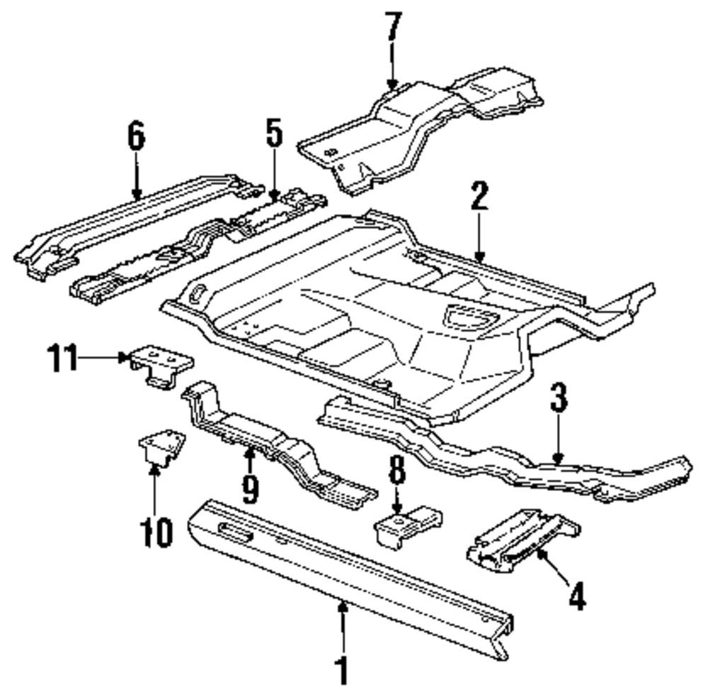 Genuine ford seat mount for e6tz13112b76a