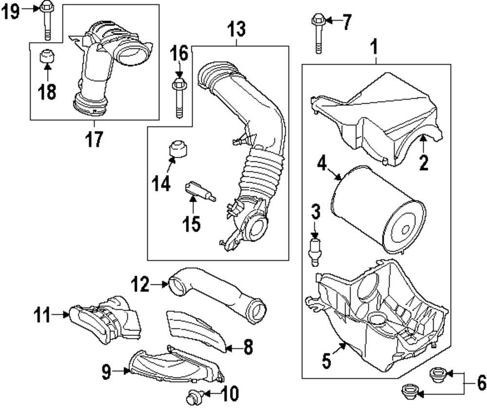 Genuine lincoln air tube bolt lin w500300s437